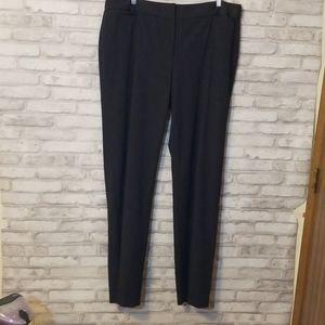 Liz Claiborne Audra 16L Gray Flat Front Pants